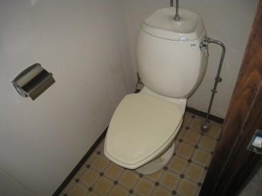 トイレは洋式です