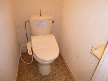 洋式トイレがうれしいですね!