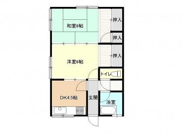 小山アパート(1F)の間取り画像