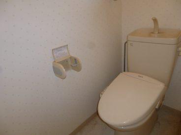 トイレは洋式トイレ! 座るの楽ちん♪