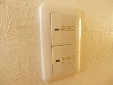 電気スイッチも各部屋でわかりやすくていいですね!