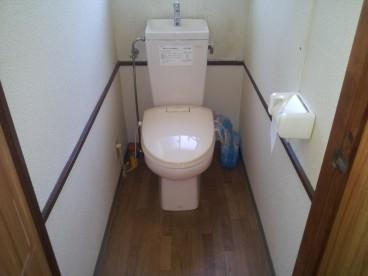 トイレは洋式。お年寄りの方にやさしいですね。