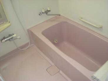 浴室は単独ユニット。 一件家用なので広々使えます。