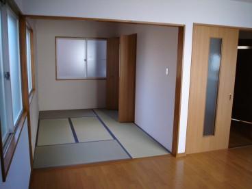 1階和室です。和室があるとお部屋に温かみがでますね。