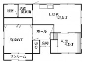 俵元富士住宅B棟の間取り画像