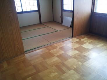 和室と洋室のお部屋です。