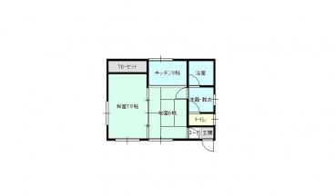 平川市国広住宅の間取り画像