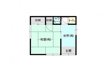 福田アパート 2の1の間取り画像