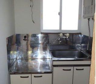 キッチンは省スペース。一人暮らし向け!