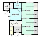 南富田斉藤住宅の間取り画像