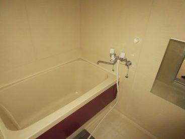 浴室もアパートにしては広め!
