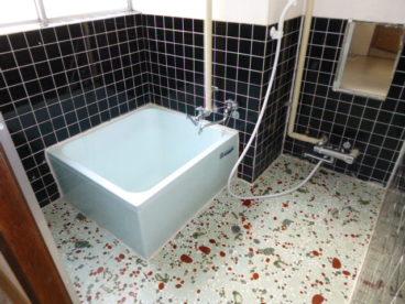 お風呂は少し古い作りですがシャワーもあり広々