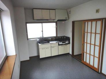 キッチンはDKタイプ。食器棚を置けますね!