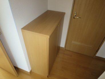 下駄箱もあります。上に収納もあるのもポイント!