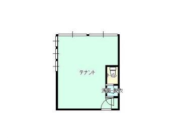 ミュゼ・弘前城(テナント)の間取り画像