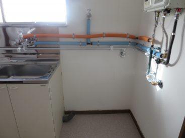 洗濯機スペースも広いので、今風の洗濯機も対応可能