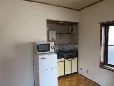 電子レンジや冷蔵庫も完備