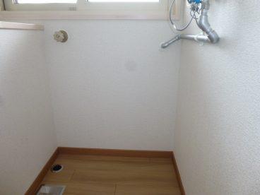 洗濯機置き場も確保