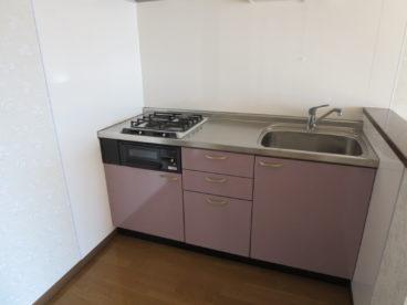 キッチンはこだわりの対面式でビルトイン! 部屋ごとにカラーバリエーションが違います
