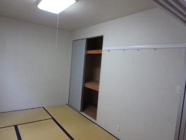 和室があるので、小さな子供が転んでも安心。寝室にいかが?