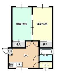 南富田スカイマンション 103号室の間取り画像