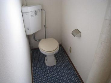 トイレは浴室と別。洋式だとしっかり座れて落ち着きます
